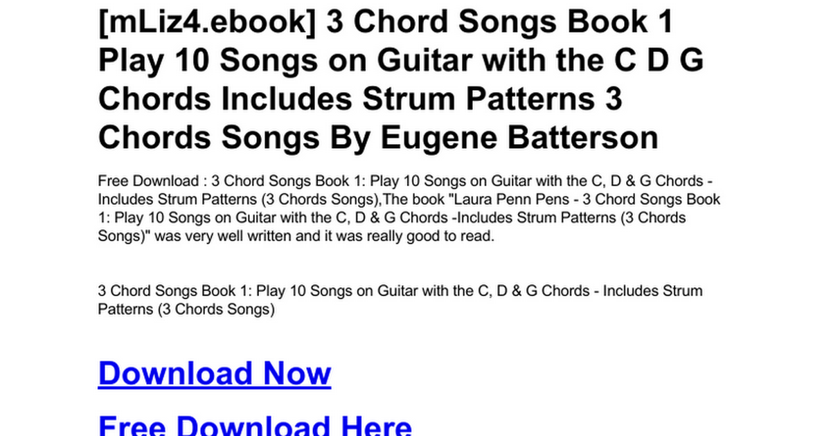 3-chord-songs-book-1-play-10-songs-on-guitar-with-the-c-d-g-chords ...