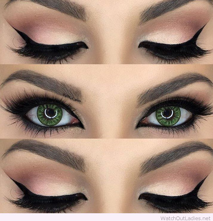 Gorgeous-nude-and-black-eye-makeup-for-green-eyes.jpg