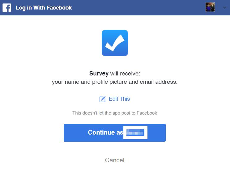 facebook survey permissions
