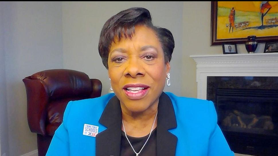 UNSPECIFIED - SEPTEMBER 26: In this screengrab Becky Pringle participates in Supercharge: Women All In, a virtual day of action hosted by Supermajority, on September 26, 2020 in United States.