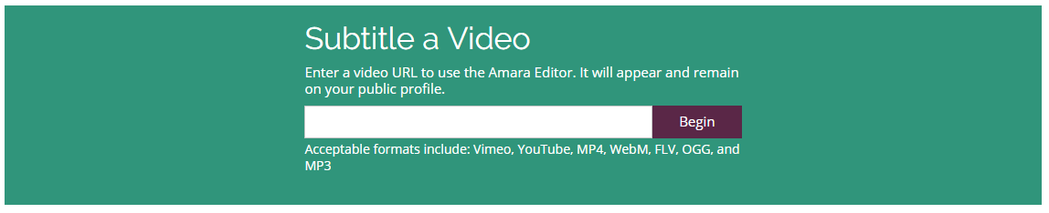 Adding videos to Amara : Amara Support Center