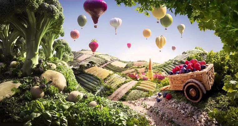 Тележка и воздушные шарики