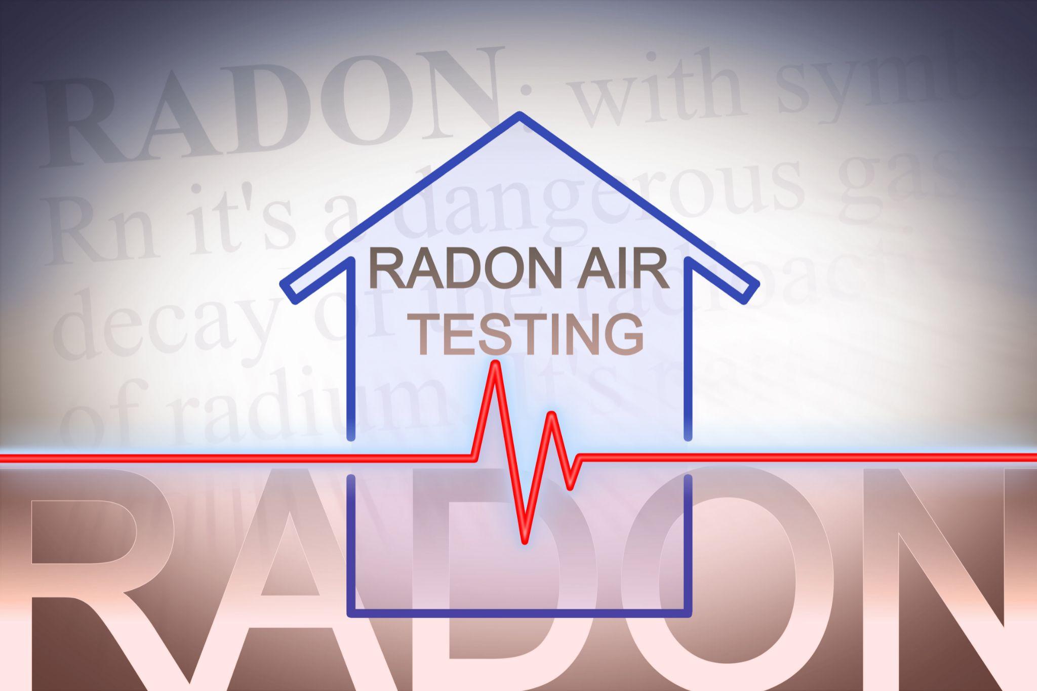 """""""Radon Air testing"""" graphic."""