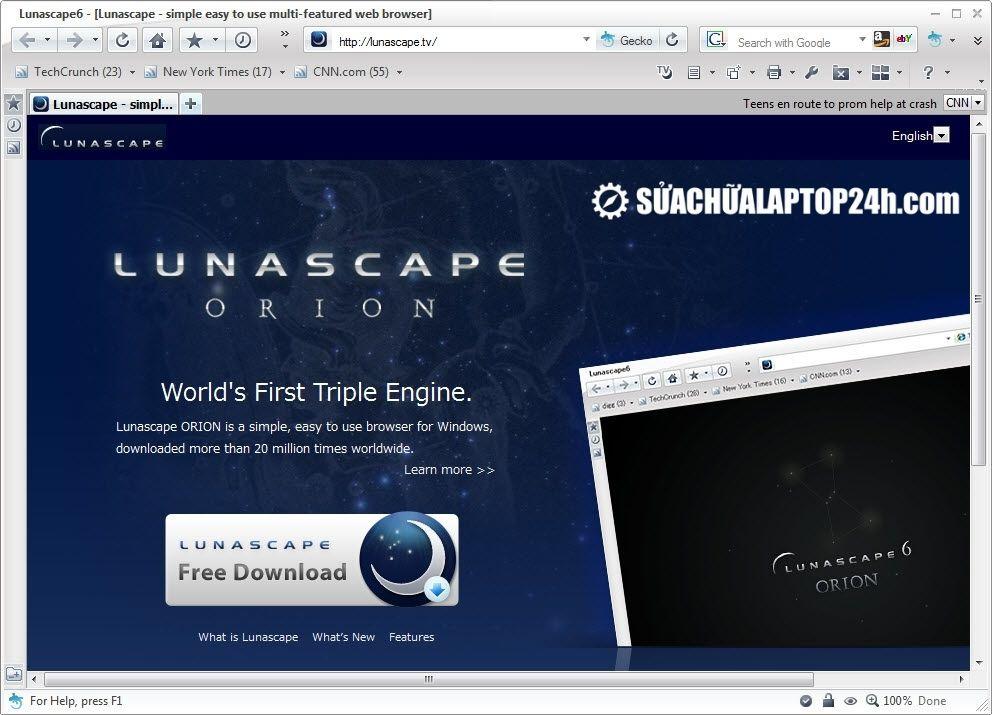 Trình duyệt Lunascape