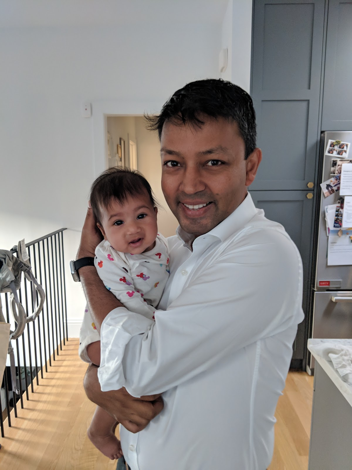 Uncle Amit with Anshu, Shardul's daughter