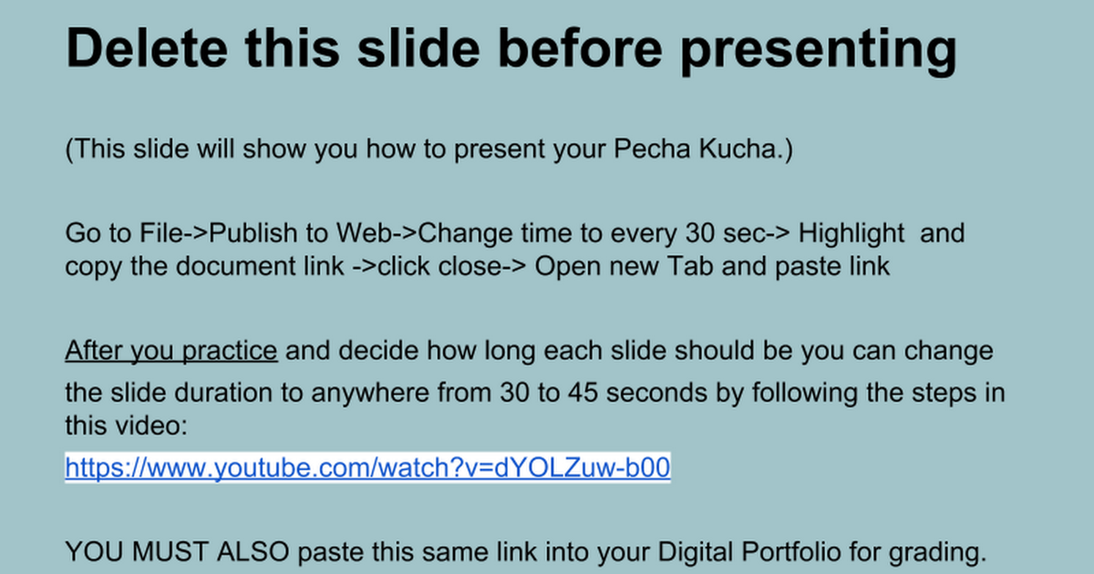 Pecha Kucha POL Template Google Slides - Pecha kucha template