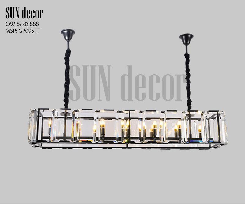 Đèn chùm hiện đại - Khung chữ nhật pha lê GP095TT