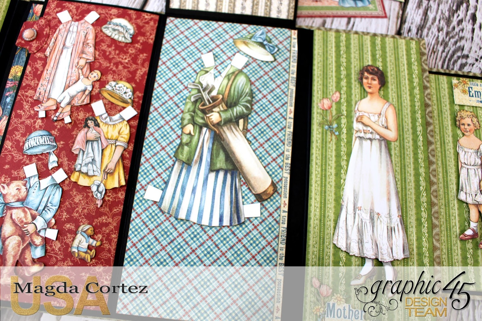Penny's Paper Doll Family Book, Penny's Paper Doll Family, By Magda Cortez, Product of Graphic45, Photo 05 of 12.jpg
