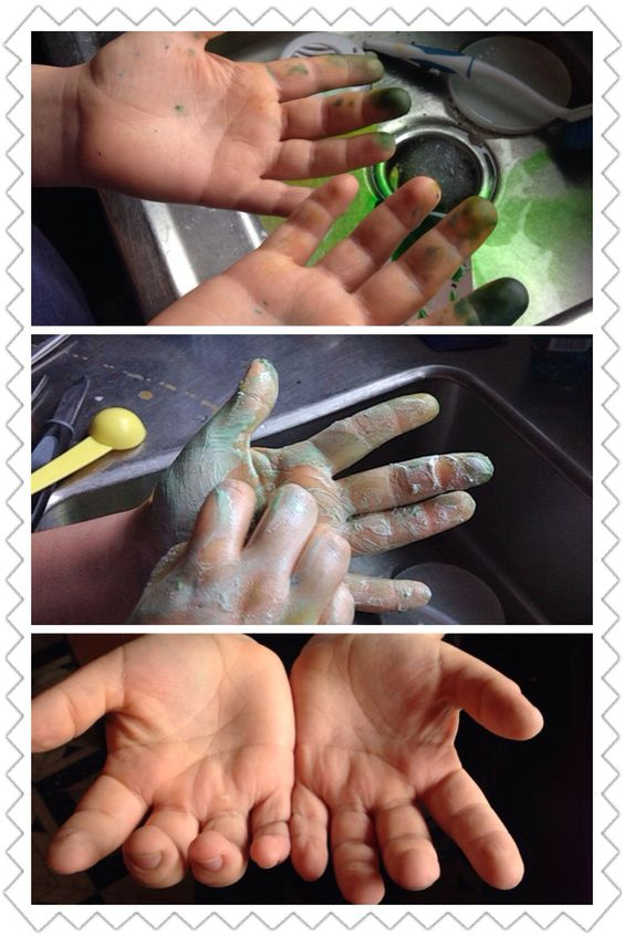 Baking soda to wash off food coloring stain