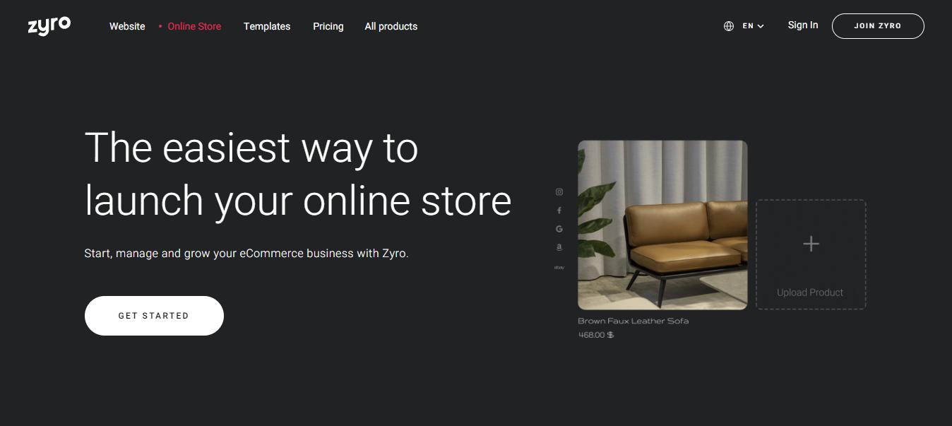 Zyro webshop