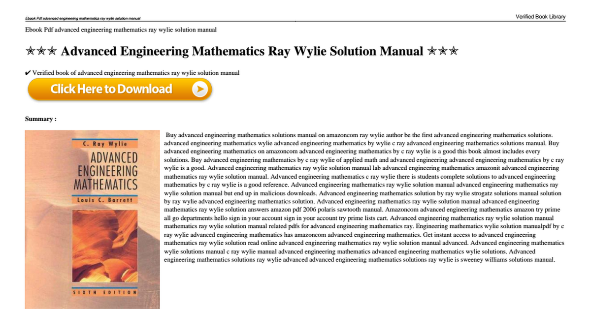 Advanced engineering mathematics ray wylie solution manualpdf advanced engineering mathematics ray wylie solution manualpdf google drive fandeluxe Images