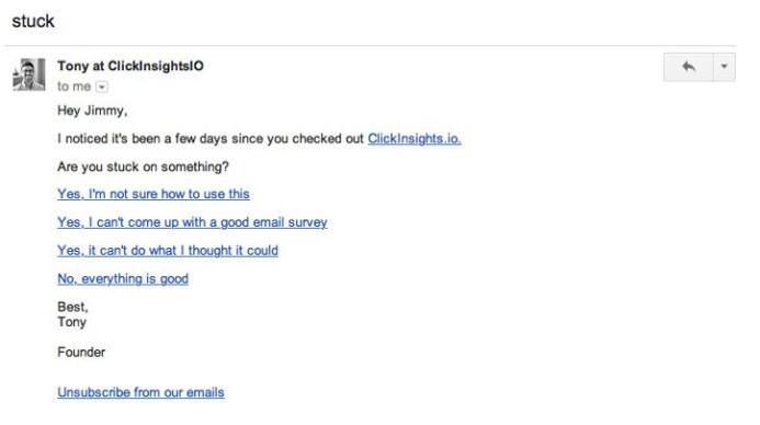 ClickInsights user segments