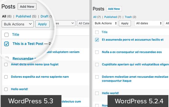 Form fields in WordPress 5.3 UI