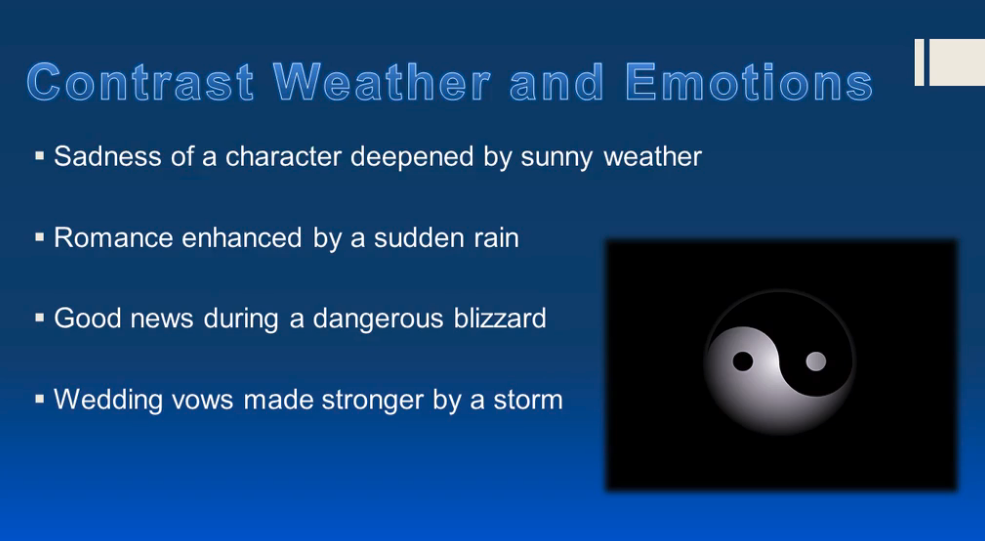 how you can use weather in your writing