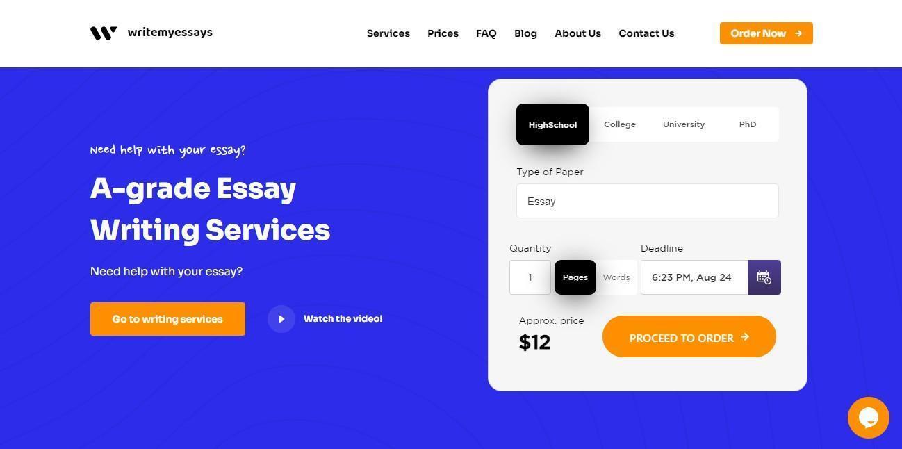 WriteMyEssays Homepage