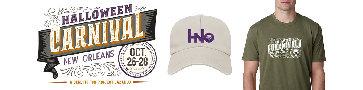 Branding and promotional items for Halloween New Orleans