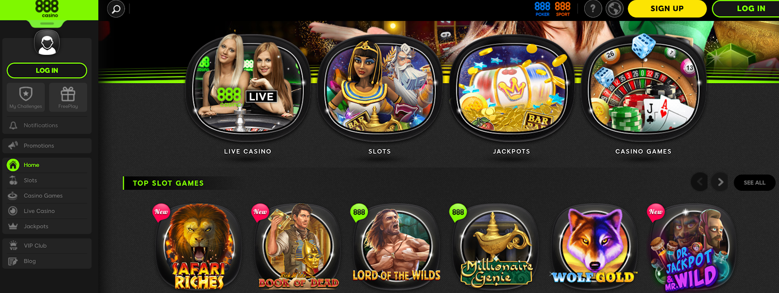 888 Casino is one of the best 200% deposit bonus casinos