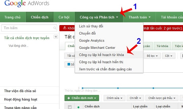 Tham khảo cách hướng dẫn sử dụng công cụ nghiên cứu từ khóa Youtube - Keyword Planner