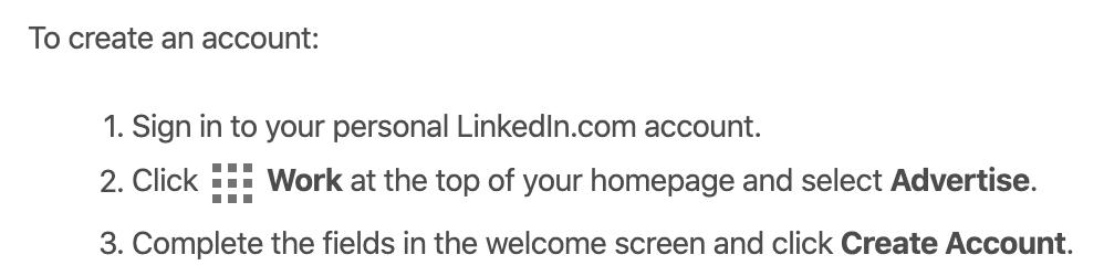 LinkedIn-mainostilin perustaminen