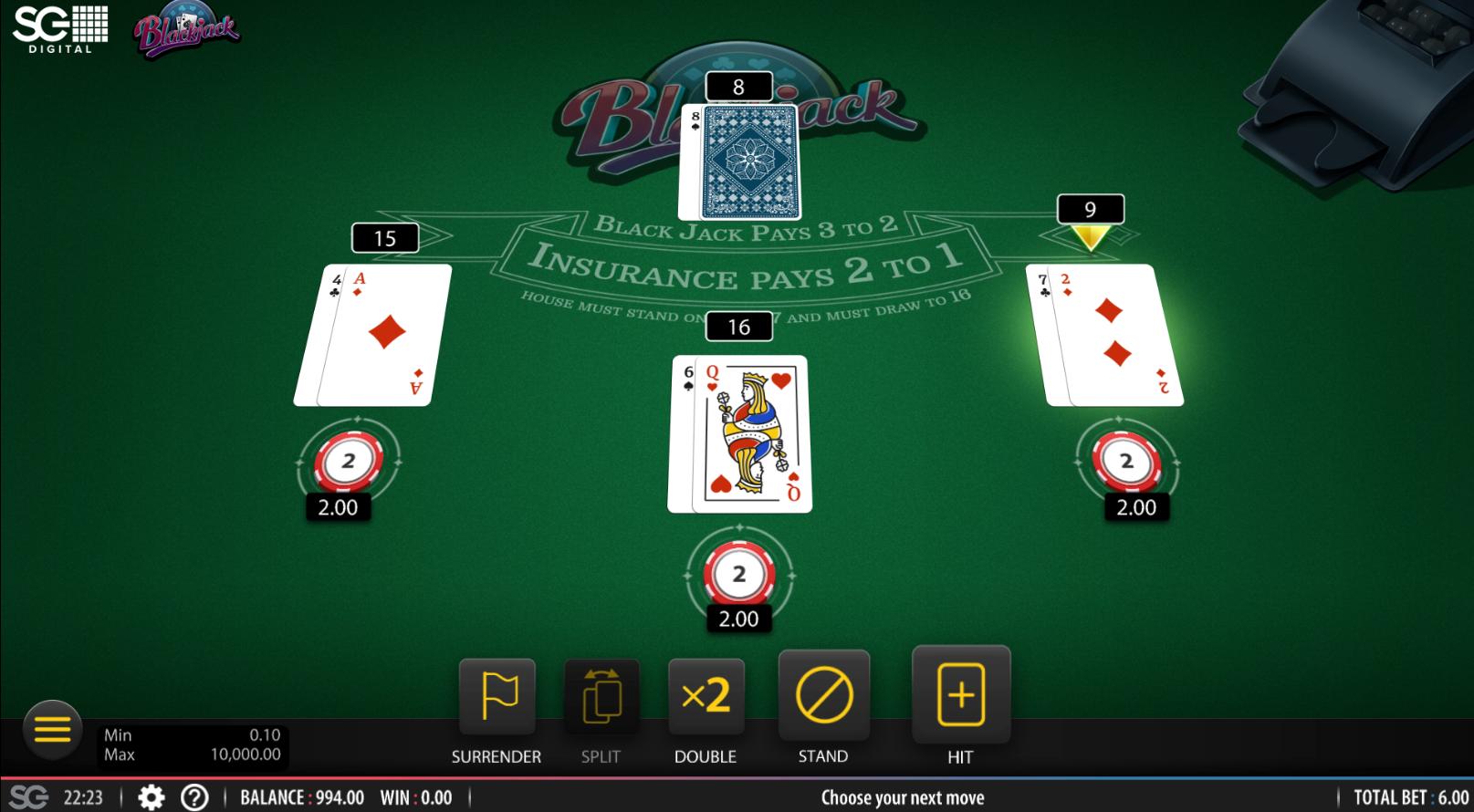 Hard Rock Online Blackjack