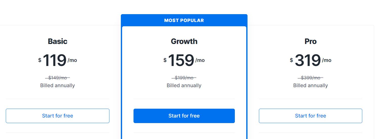 The Kajabi pricing tier