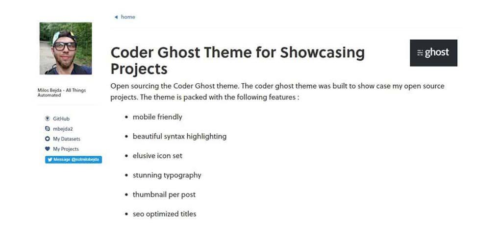 tema coder para ghost