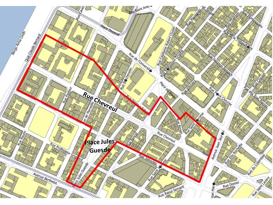 Place Jules Guesde et rue Chevreul