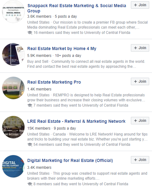 facebook groups for social selling.