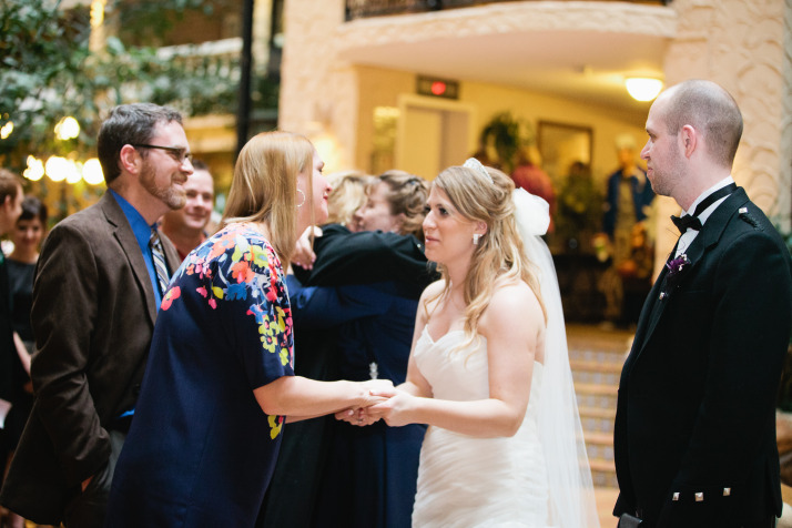 spend quality time with wedding guests receiving line