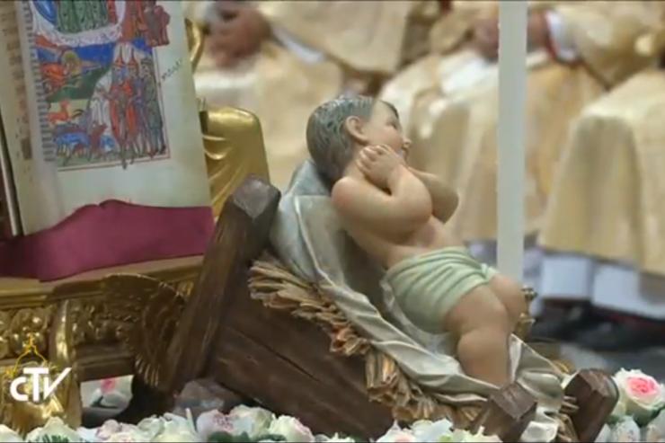 Image of Child Jesus and Gospel