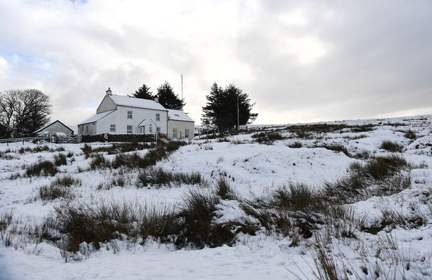 The blanket of snow made for some beautiful scenery on Dartmoor