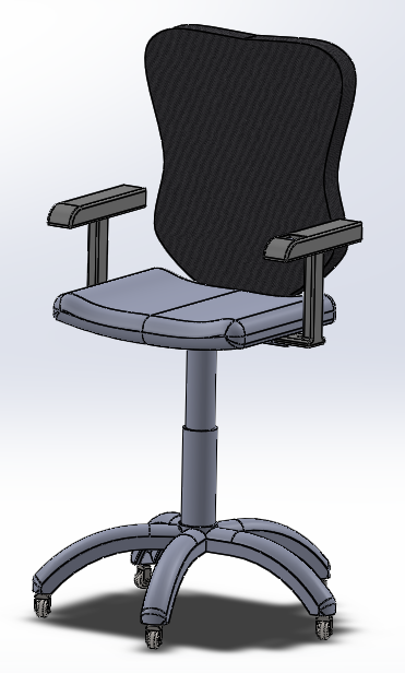 Marvelous We have added more features to our design and pleted our first CAD model of the entire chair which includes all the ponents that we have considered