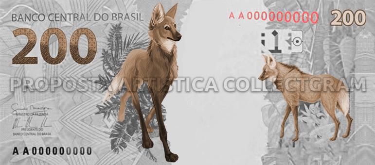 Nota de 200 - Lobo-guará