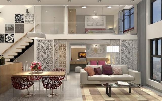 Căn hộ tại chung cư quận 1 được thiết kế với màu sắc trang nhã