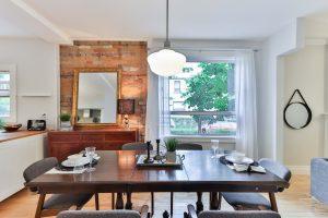 A dining room.