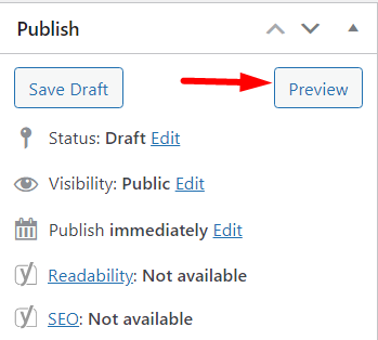 Preview before publishing on WordPress