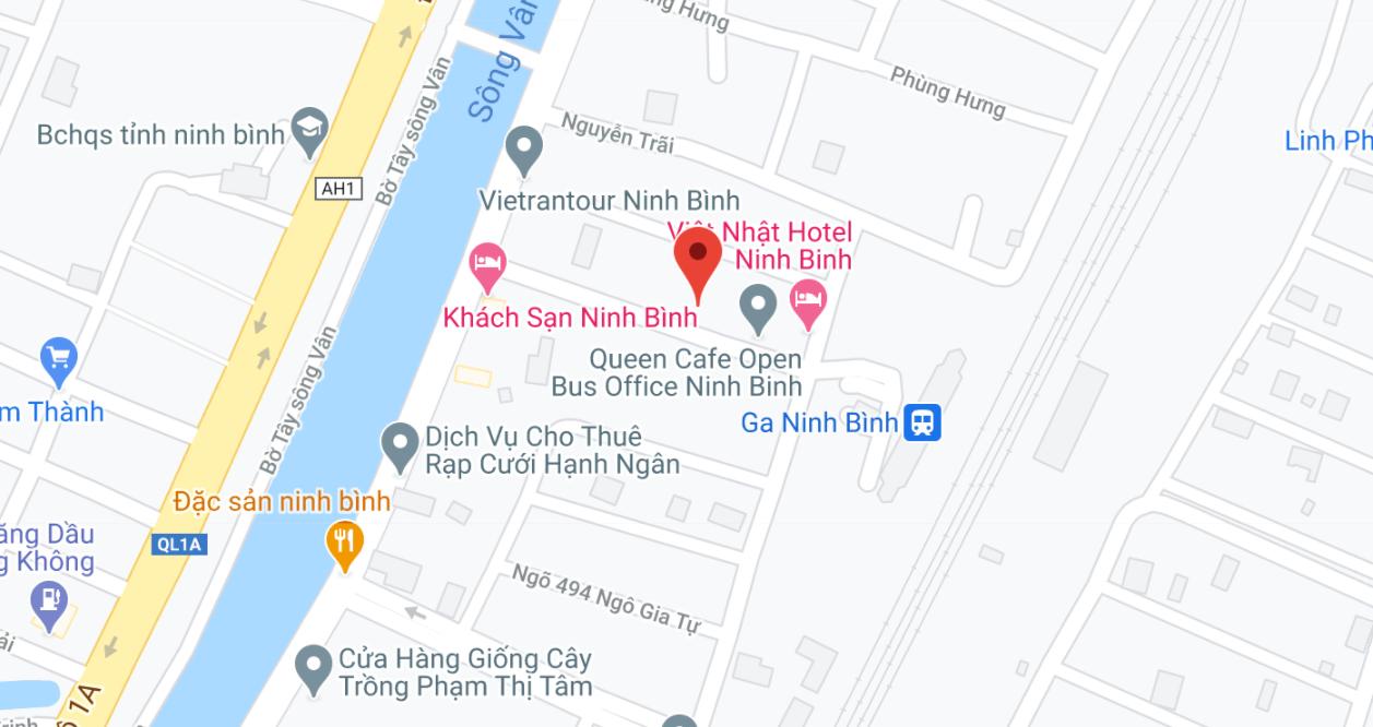 Địa điểm đón/trả khách tại Ninh Bình