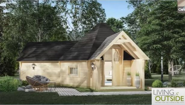 An artist impression of how the glamping pods will look