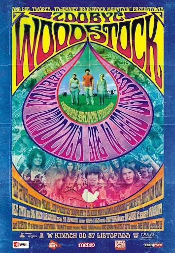Polski plakat filmu 'Zdobyć Woodstock'