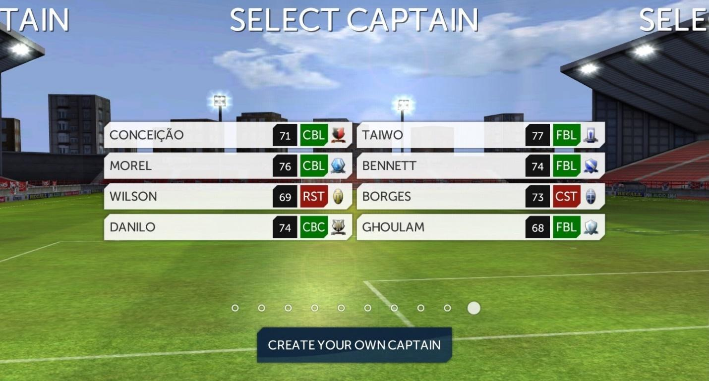 Dream League Soccer Select Captain