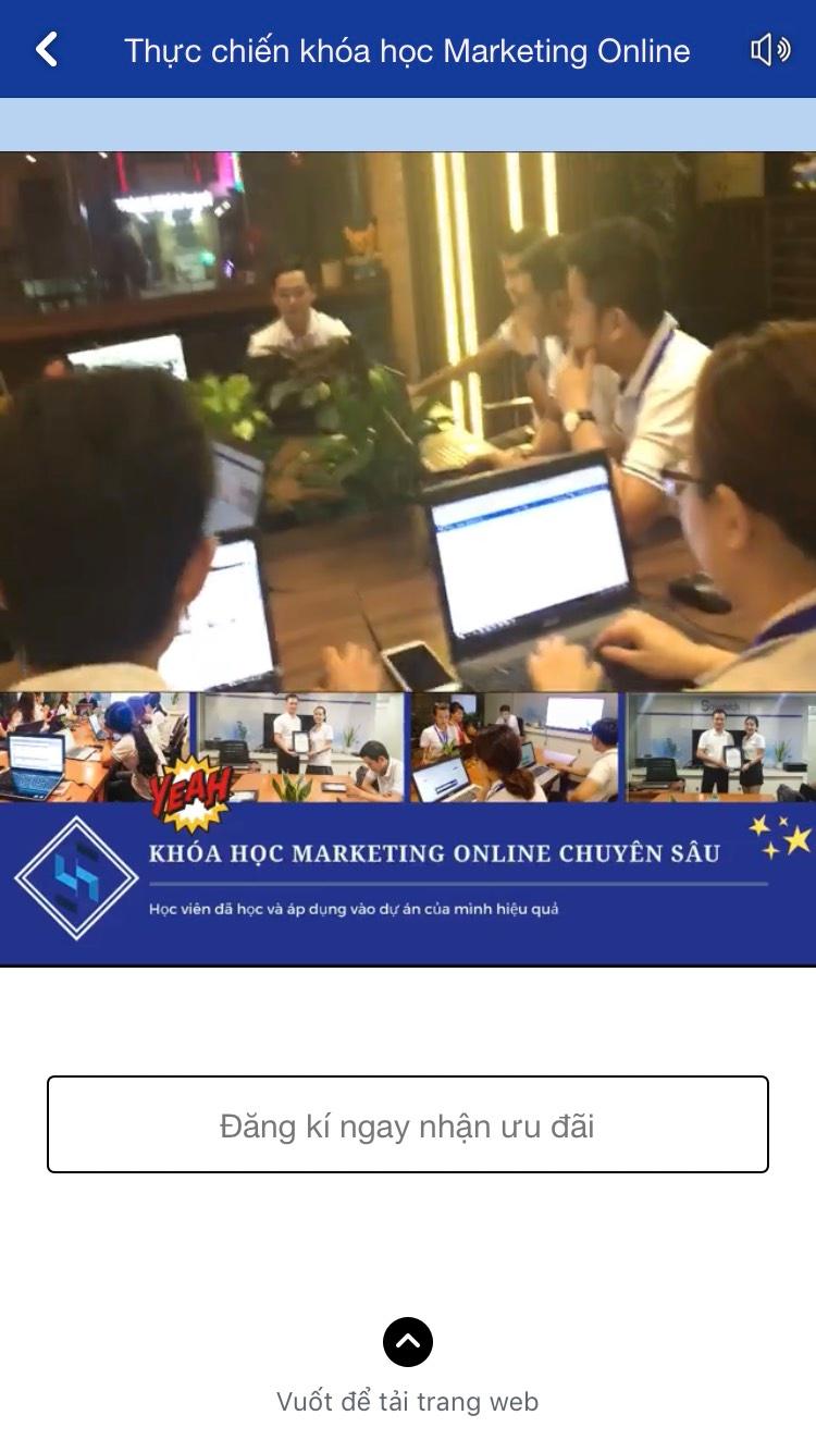 Thực chiến khóa học Marketing Online