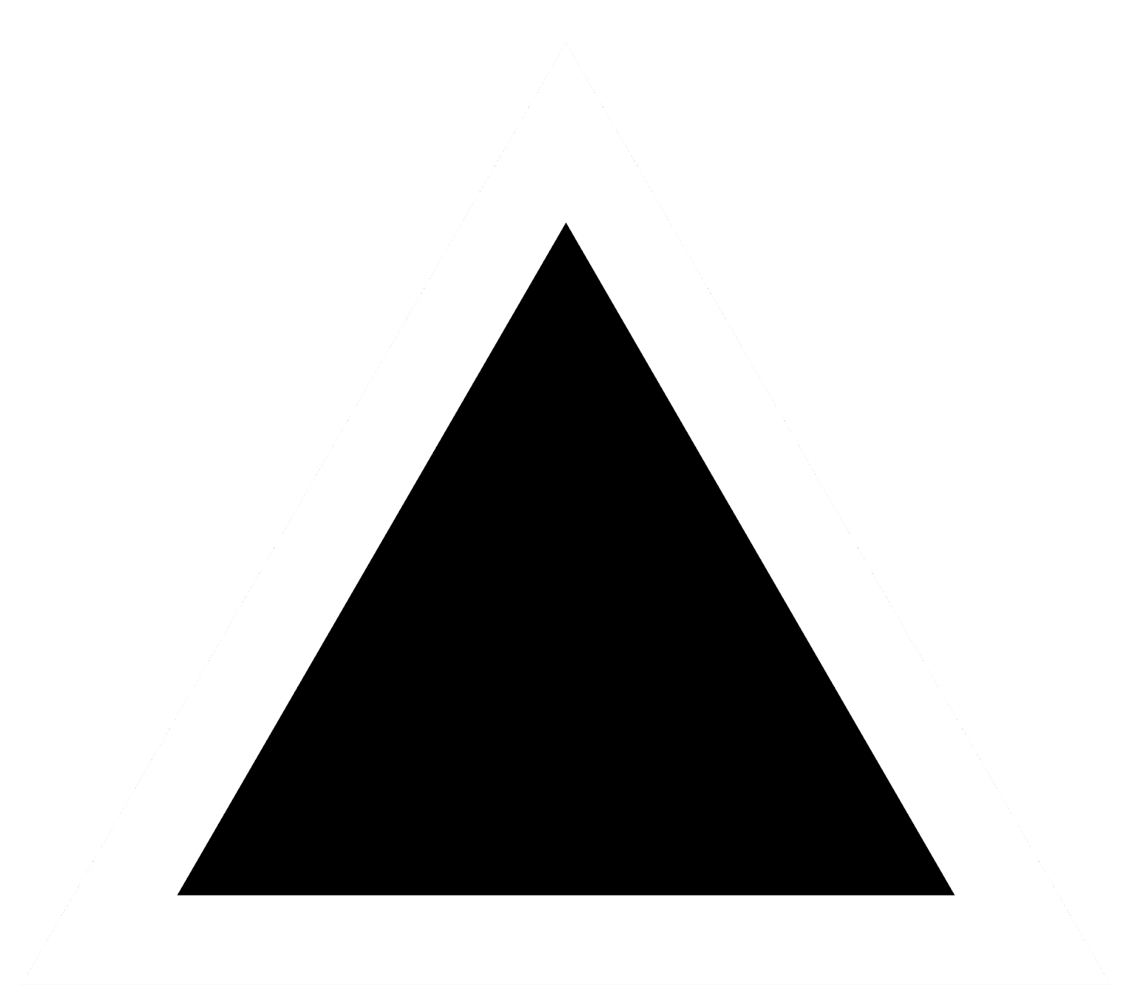 File:Black triangle with thick white border.svg - Wikimedia Commons