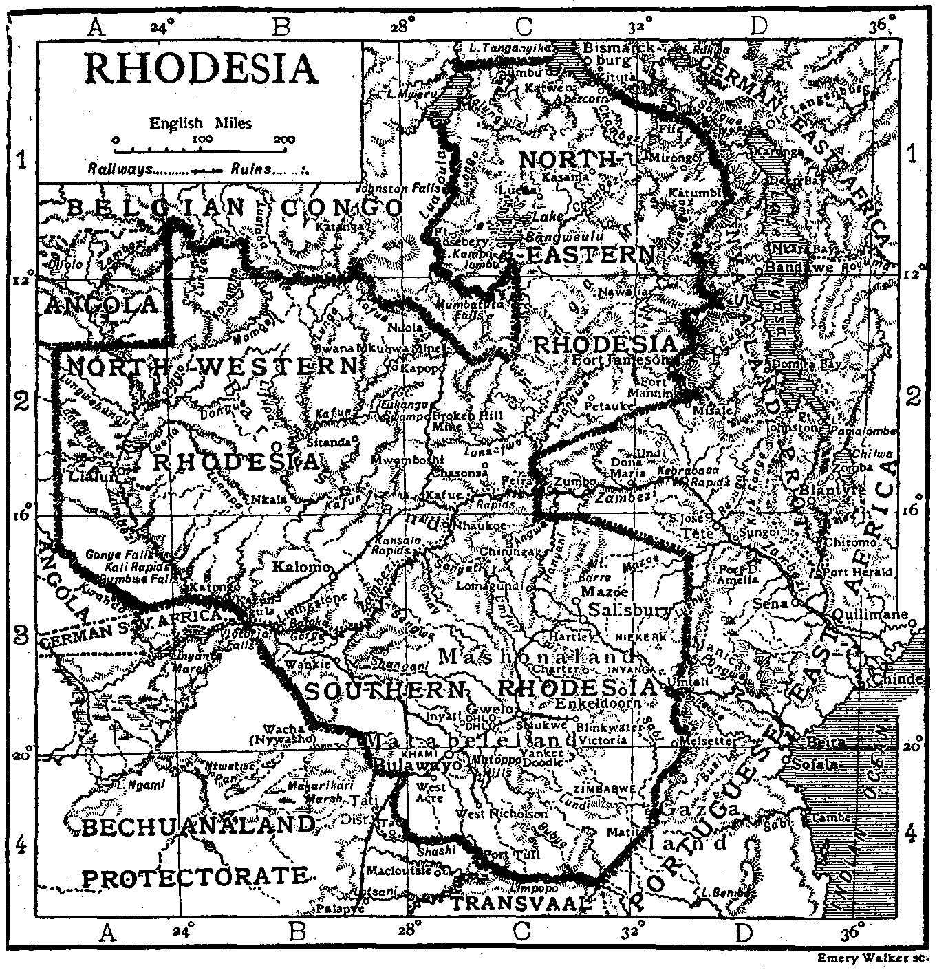 Родезії. Енциклопедія Британіка, 1911 рік.