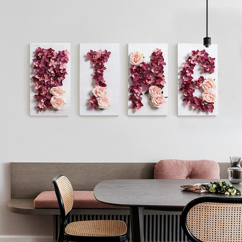 DIY Floral Letter Wall Art
