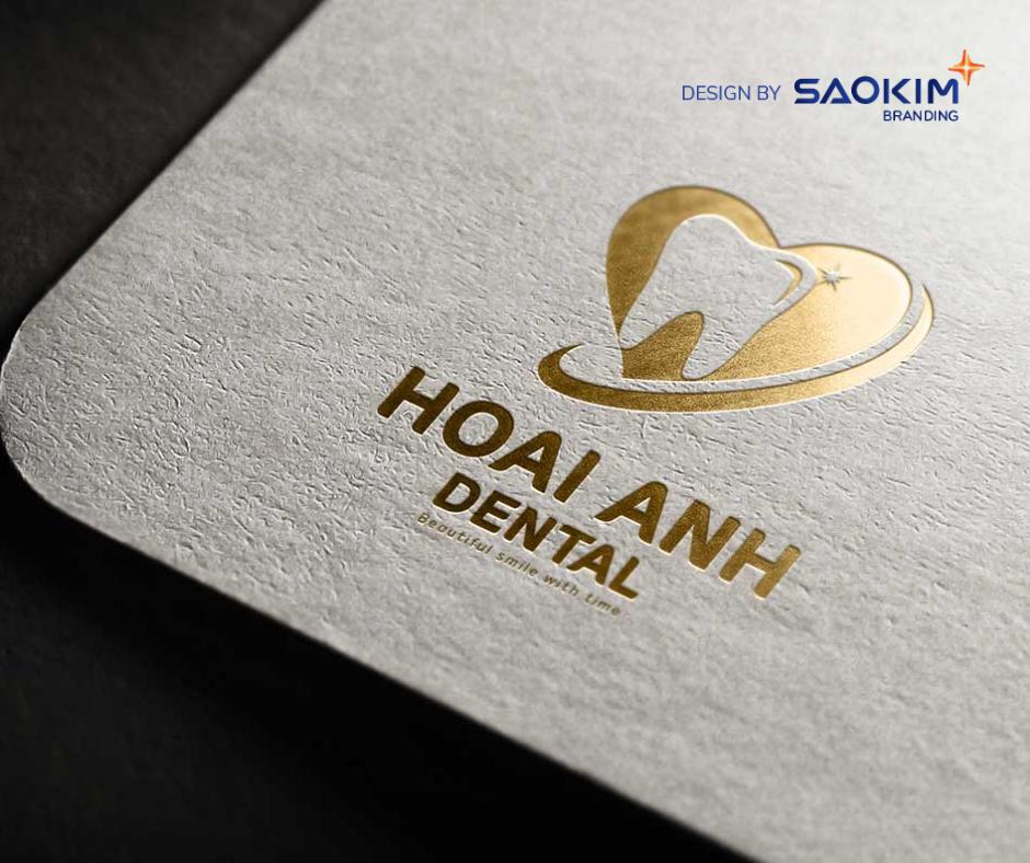 [Saokim.com.vn] Logo phòng khám nha khoa quốc tế Hoài Anh thiết kế bởi Sao Kim Branding