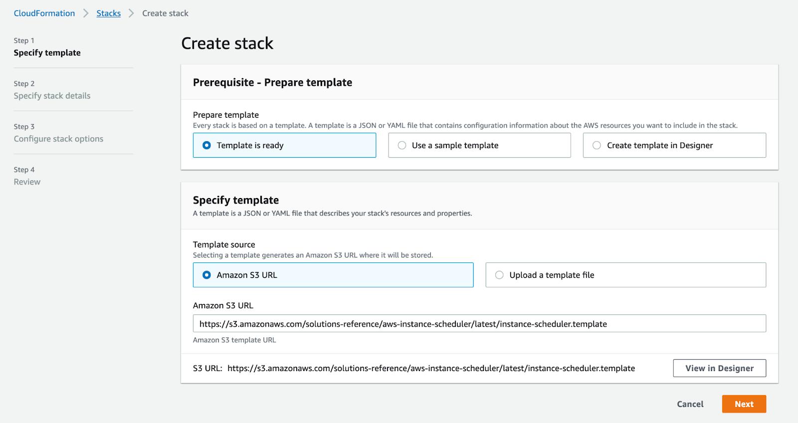 Instance-Scheduler-stack-Step1