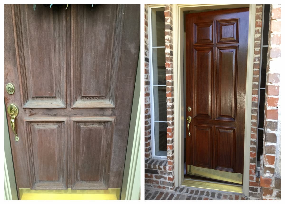 Garland Handyman front door repair