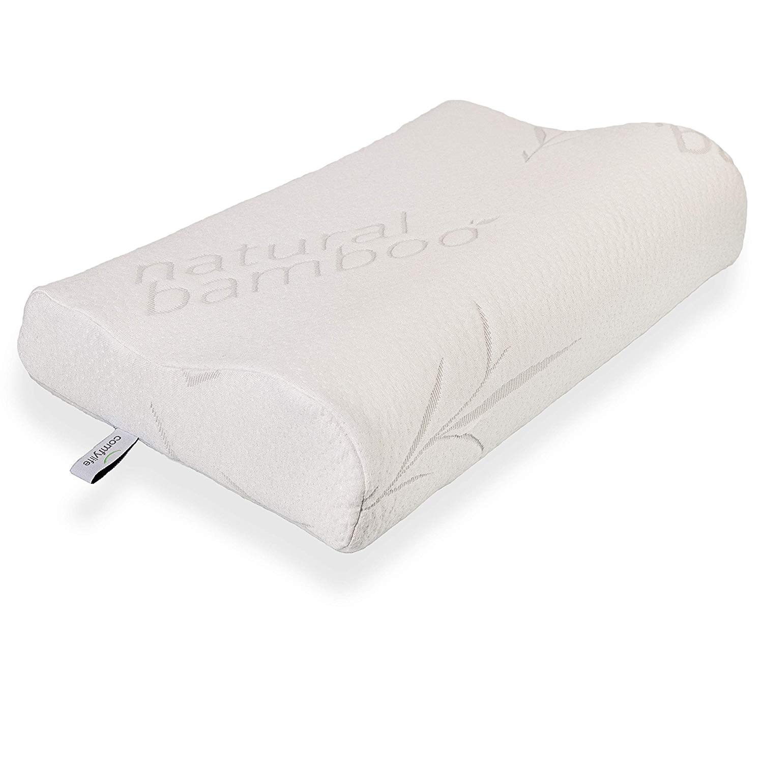 Image result for Bamboo Memory Foam Contour Pillow - A Firm Flexible Therapeutic Posturepedic Pillow for Sound Sleep and Reduced Neck and Shoulder Pain (24 x 16 in)