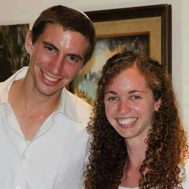 Hadar Goldin and his fiance