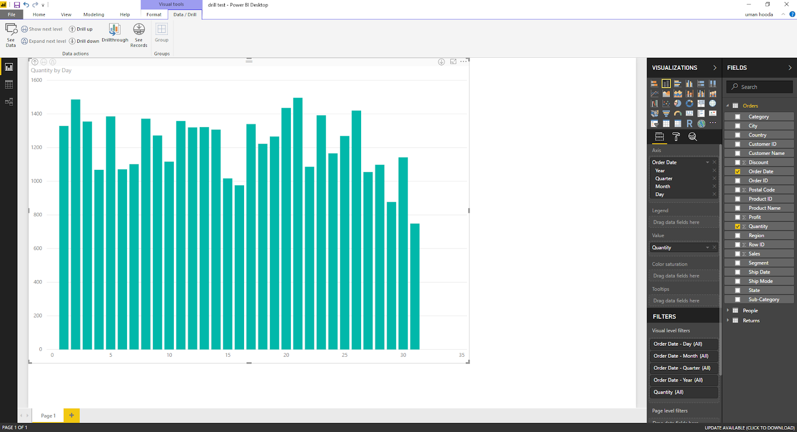 Drill In / Out on Your Data For Different Dates In Microsoft Power BI 45